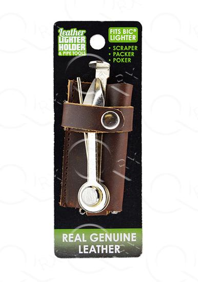 Leather Lighter Holder with Pipe Tools
