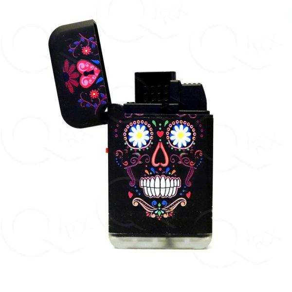 Urban Skull Dual Torch Flip Lighter