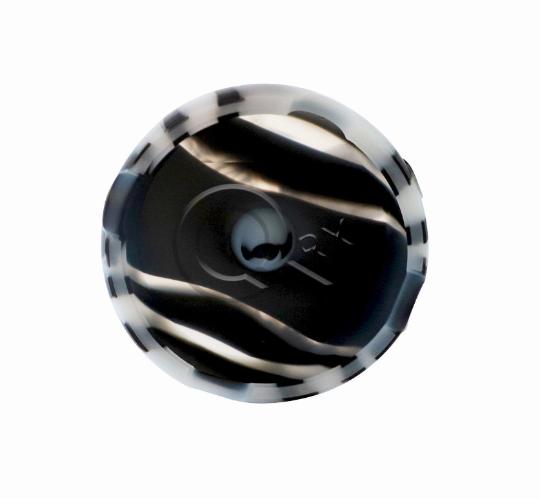Black and White Round Silicone Ashtray