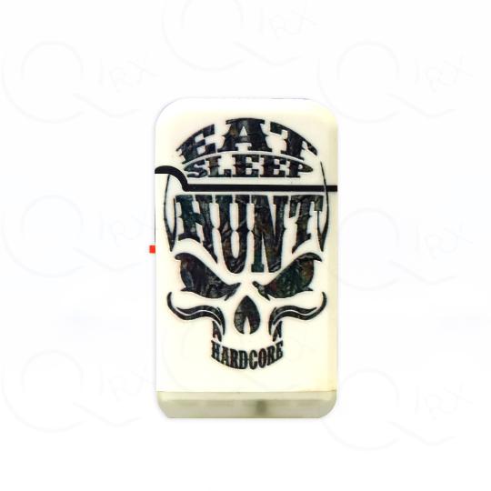 Skull Hunt Savage Dual Torch Flip Lighter