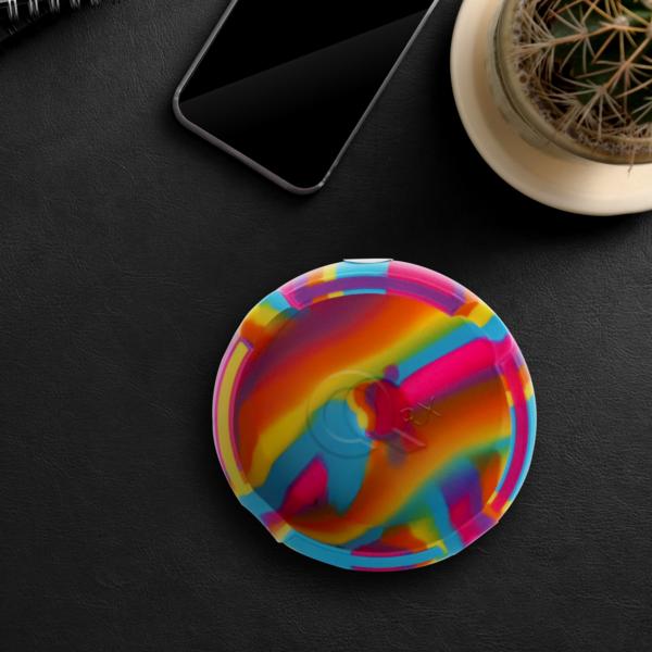 Rainbow Round Silicone Ashtray
