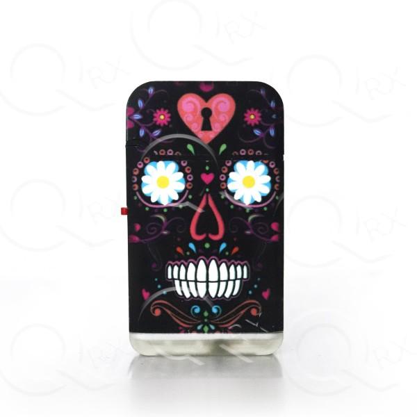 Skull Heart Dual Torch Flip Lighter