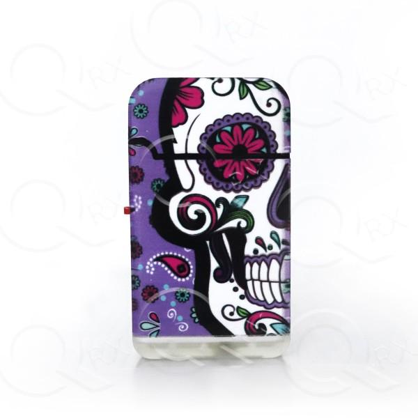 Purple Skull Dual Torch Flip Lighter