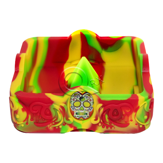 Reggae Skull Spike Flame Resistant Ashtray