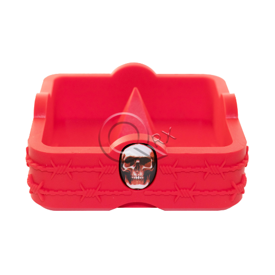 Red Skull Spike Flame Resistant Ashtray