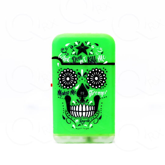 Neon Skull Design Dual Torch Flip Lighter