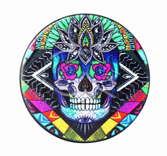 Candy Skull Black Metal Grinder