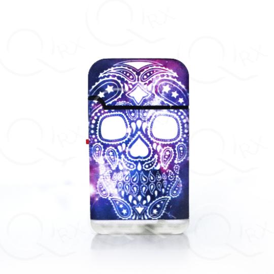 Galaxy Skull Dual Torch Flip Lighter