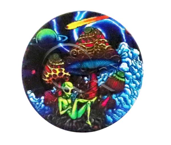 Alien Country Mushroom Black Metal Grinder