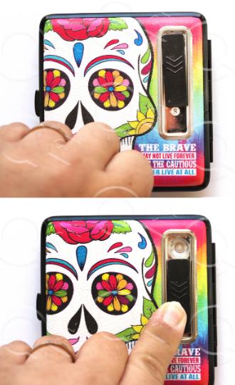 Skull Candy USB Cigarette Lighter Case