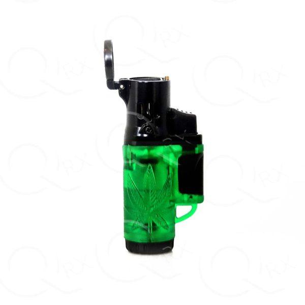 Marijuana symbol molded in Dark Green